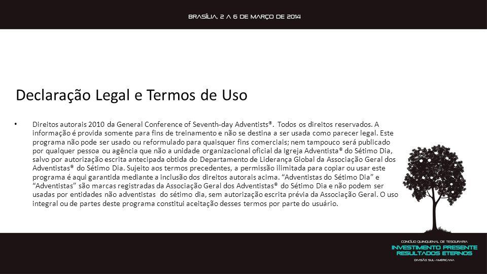 Declaração Legal e Termos de Uso