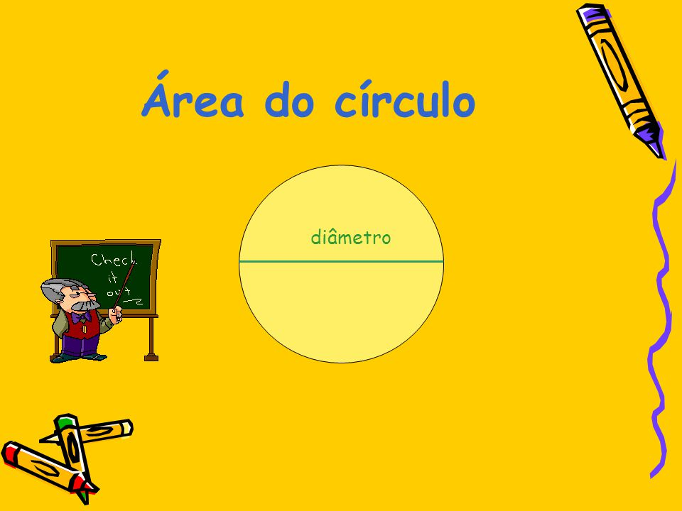 Área do círculo diâmetro