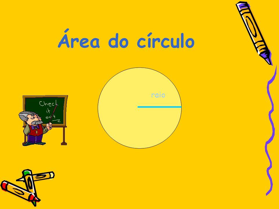 Área do círculo raio