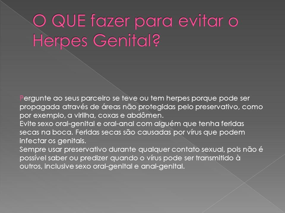 O QUE fazer para evitar o Herpes Genital