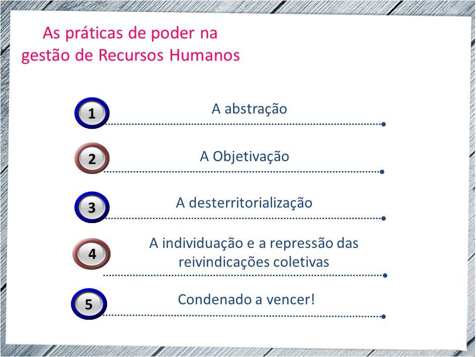 As práticas de poder na gestão de Recursos Humanos