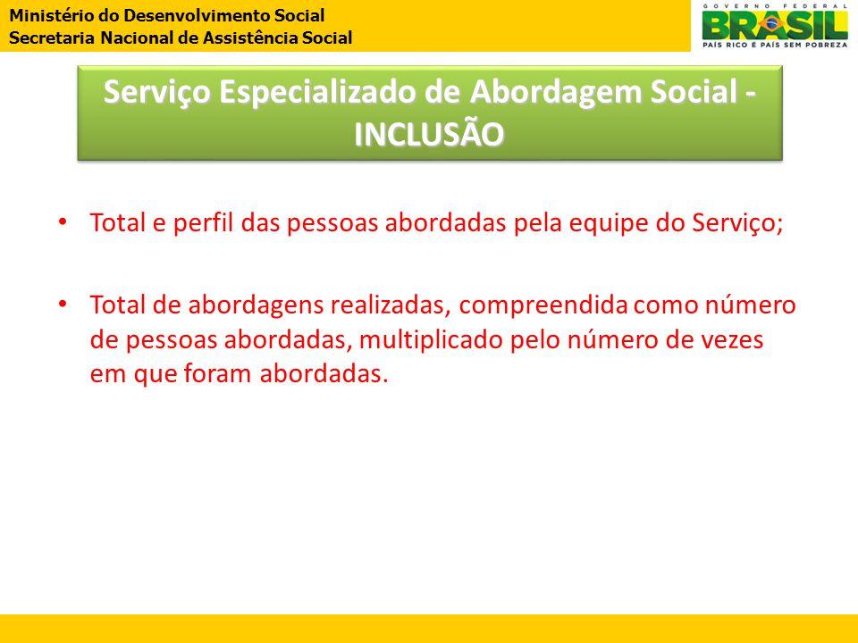 Serviço Especializado de Abordagem Social - INCLUSÃO
