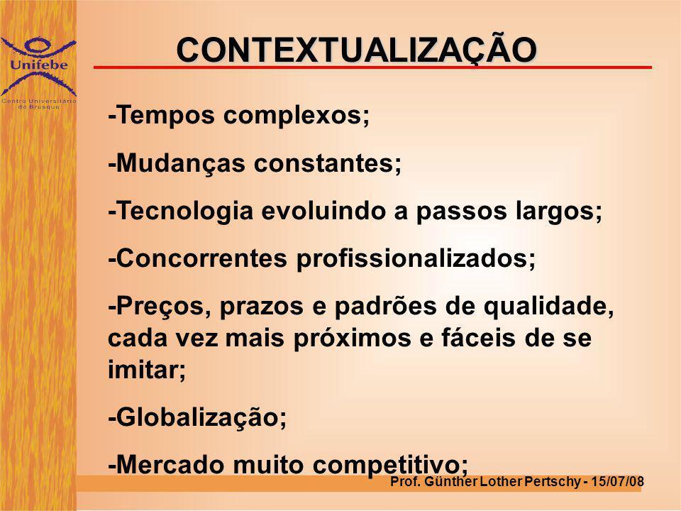 CONTEXTUALIZAÇÃO -Tempos complexos; -Mudanças constantes;