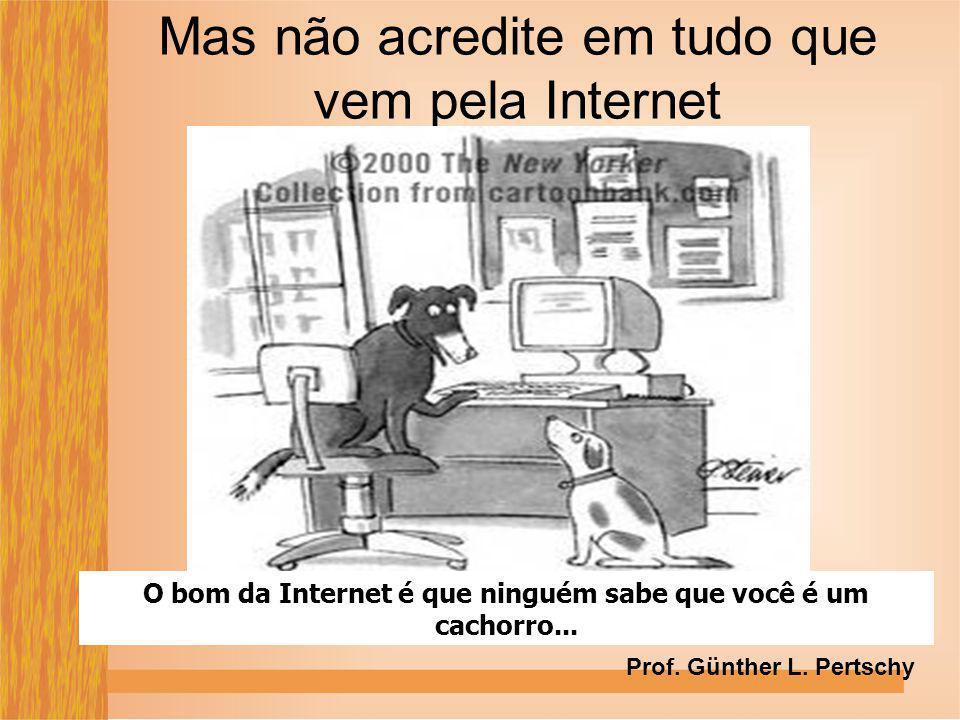 Mas não acredite em tudo que vem pela Internet