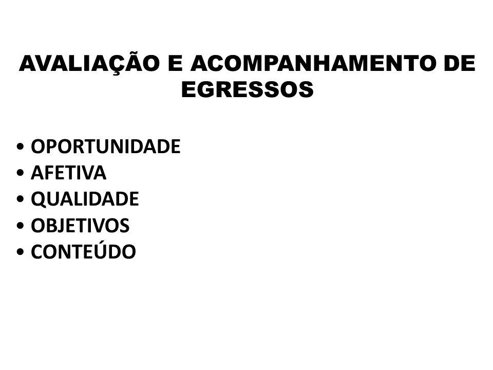 AVALIAÇÃO E ACOMPANHAMENTO DE EGRESSOS