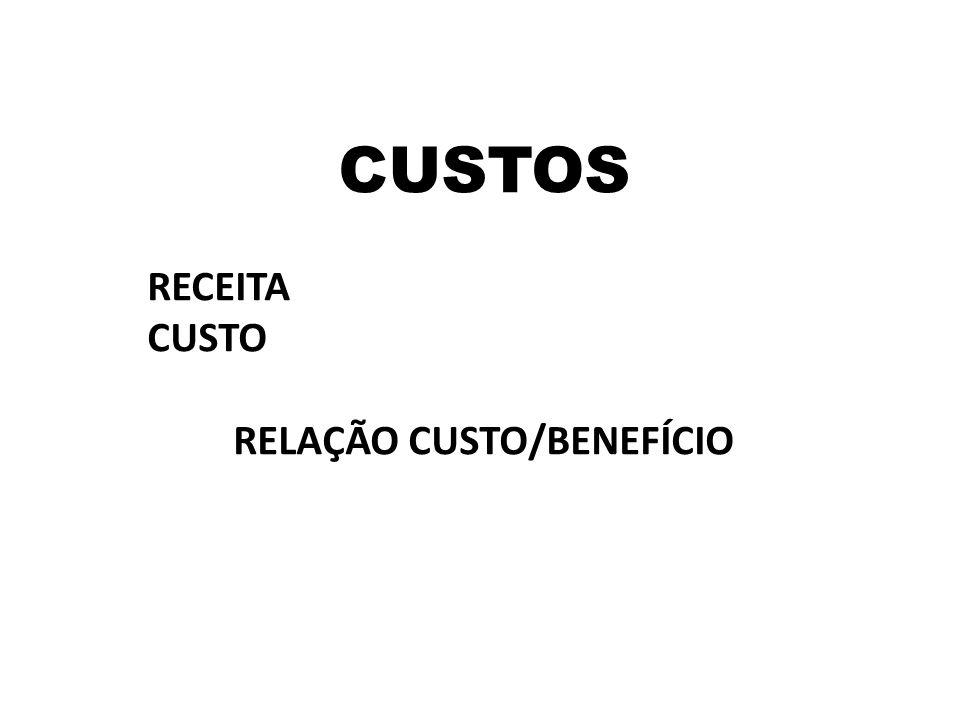 RELAÇÃO CUSTO/BENEFÍCIO