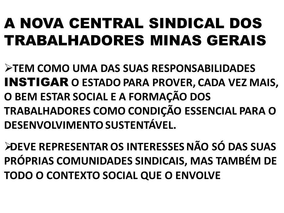 A NOVA CENTRAL SINDICAL DOS TRABALHADORES MINAS GERAIS
