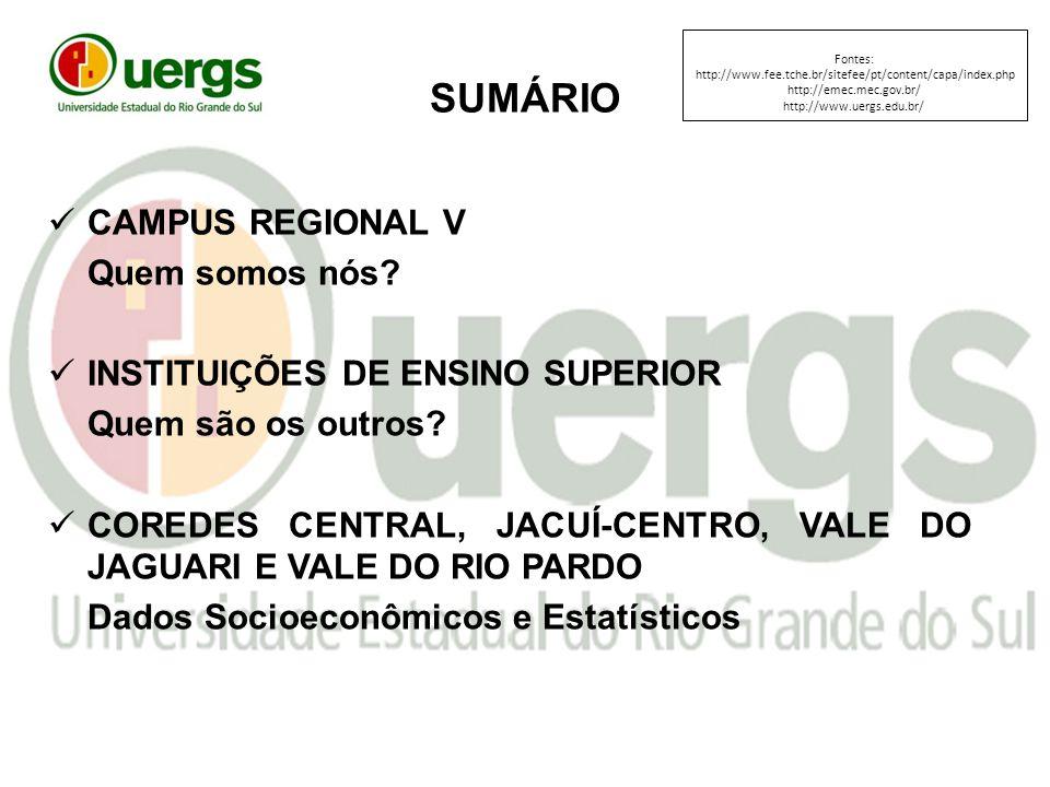 SUMÁRIO CAMPUS REGIONAL V Quem somos nós