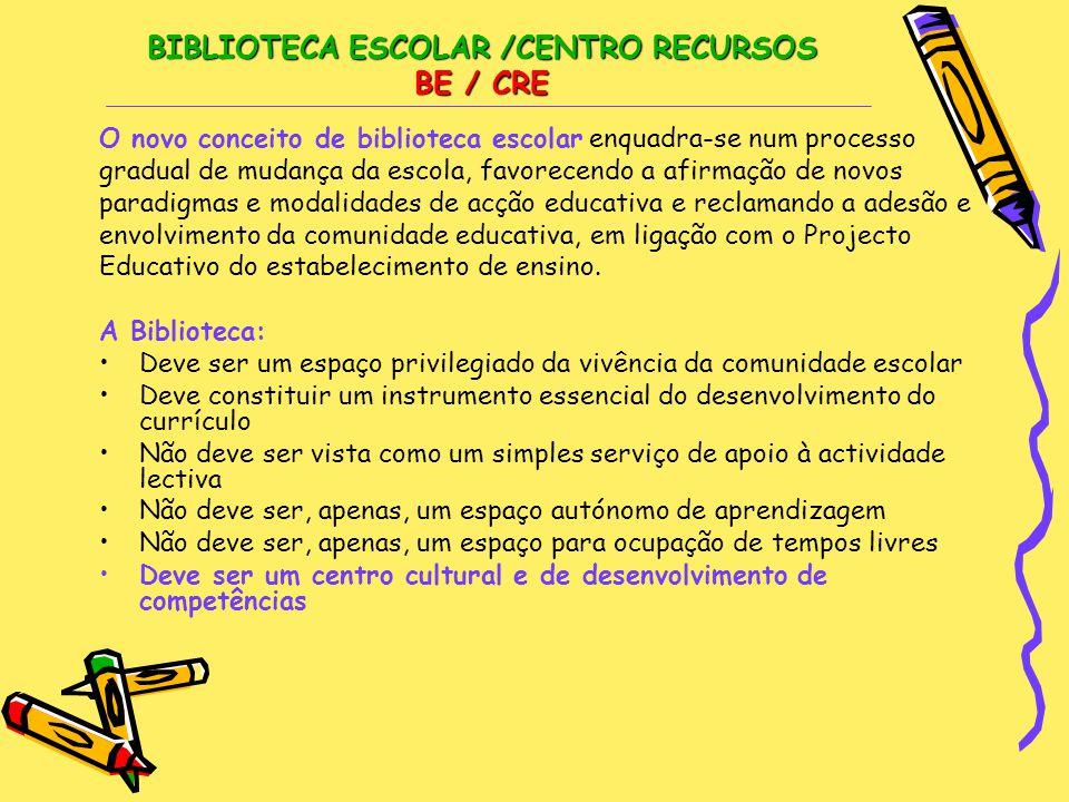BIBLIOTECA ESCOLAR /CENTRO RECURSOS BE / CRE