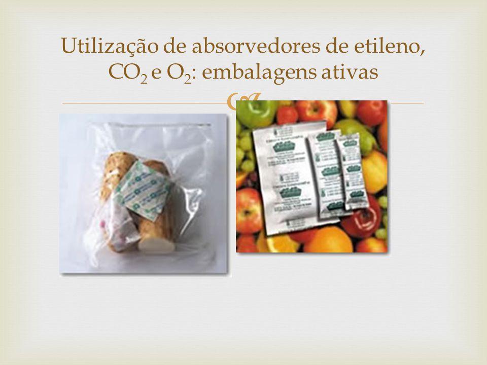 Utilização de absorvedores de etileno, CO2 e O2: embalagens ativas