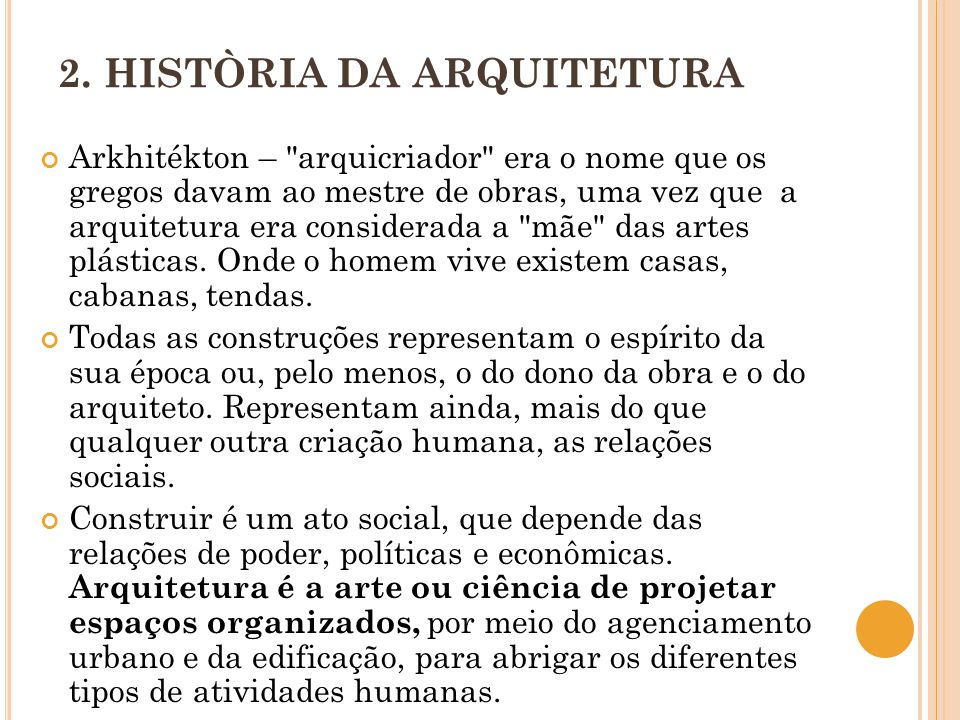 2. HISTÒRIA DA ARQUITETURA