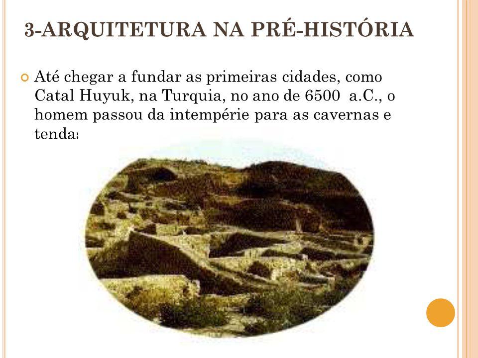 3-ARQUITETURA NA PRÉ-HISTÓRIA