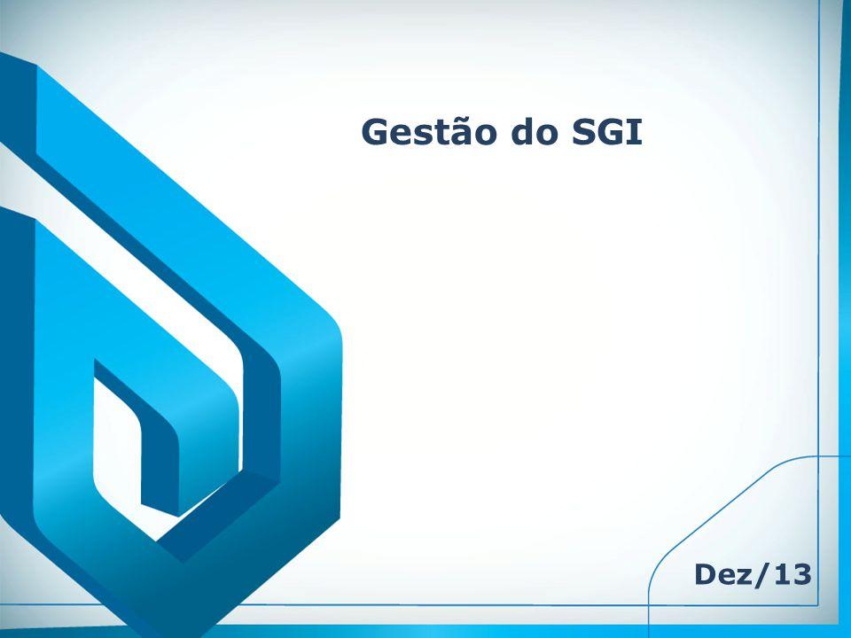 Gestão do SGI Dez/13