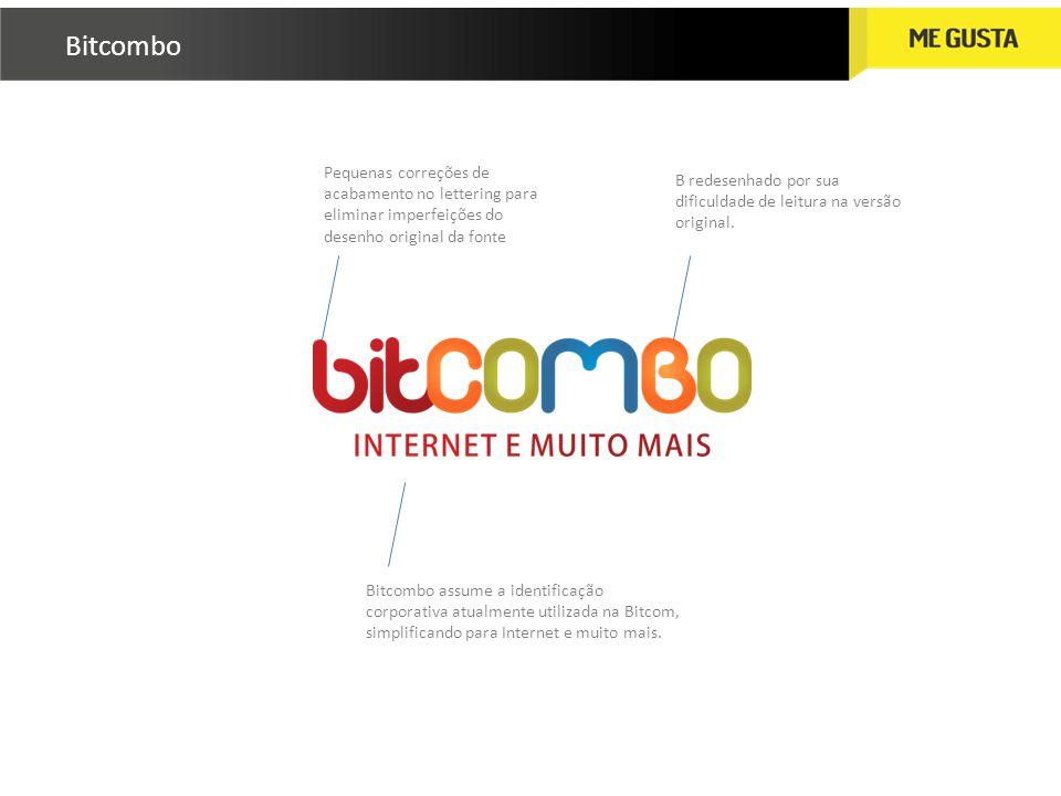 Bitcombo Pequenas correções de acabamento no lettering para eliminar imperfeições do desenho original da fonte.