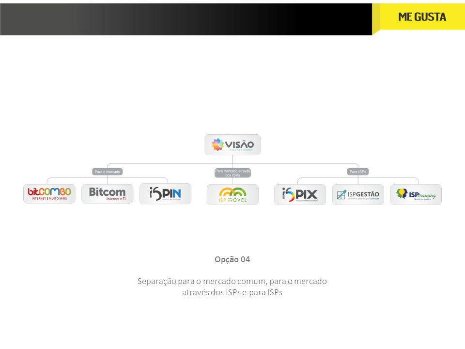 Opção 04 Separação para o mercado comum, para o mercado através dos ISPs e para ISPs