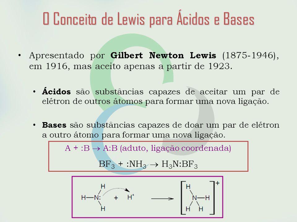 O Conceito de Lewis para Ácidos e Bases