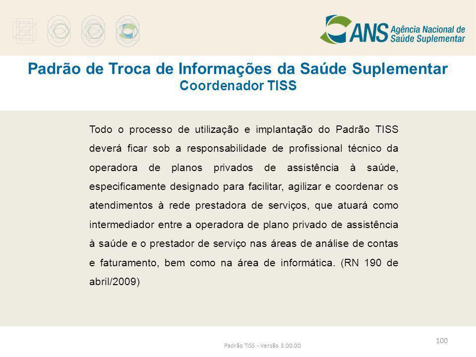 Padrão de Troca de Informações da Saúde Suplementar Coordenador TISS