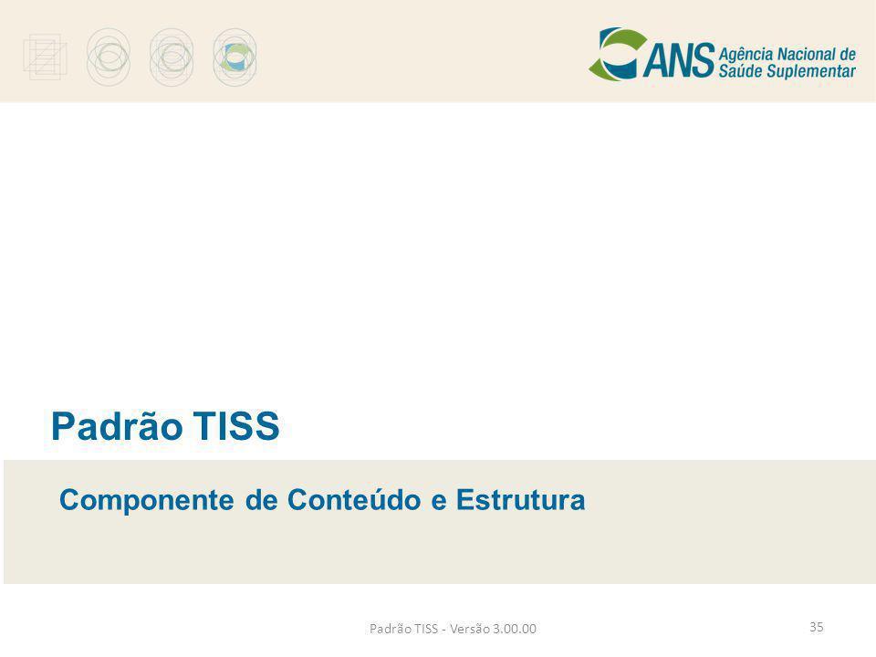 Padrão TISS Componente de Conteúdo e Estrutura