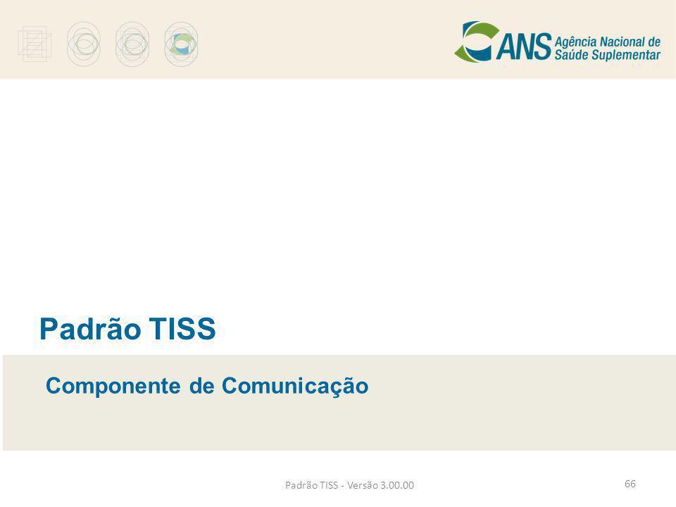 Padrão TISS Componente de Comunicação Padrão TISS - Versão 3.00.00