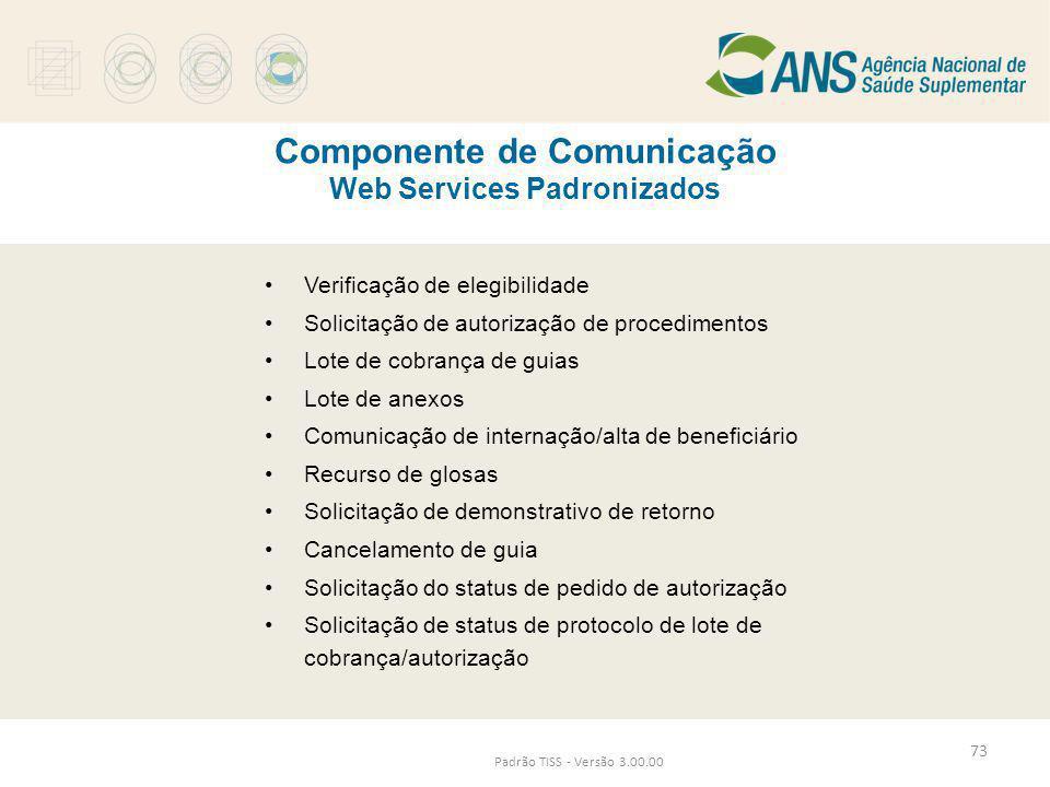 Componente de Comunicação Web Services Padronizados