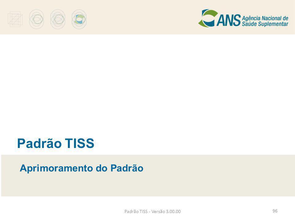 Padrão TISS Aprimoramento do Padrão Padrão TISS - Versão 3.00.00