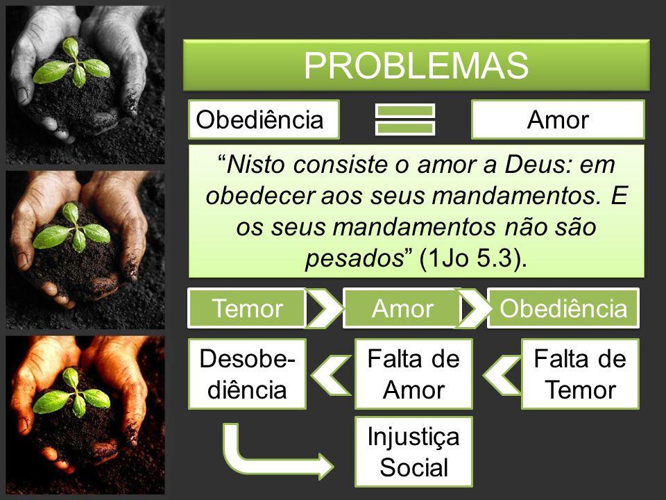 PROBLEMAS Obediência Amor