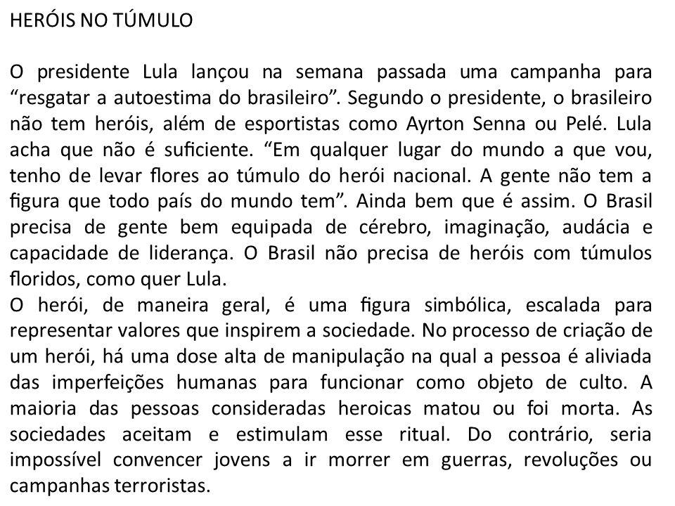 HERÓIS NO TÚMULO