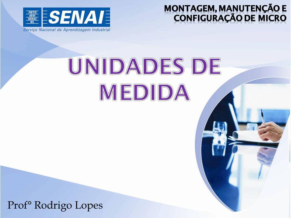 UNIDADES DE MEDIDA Prof° Rodrigo Lopes Montagem, Manutenção e