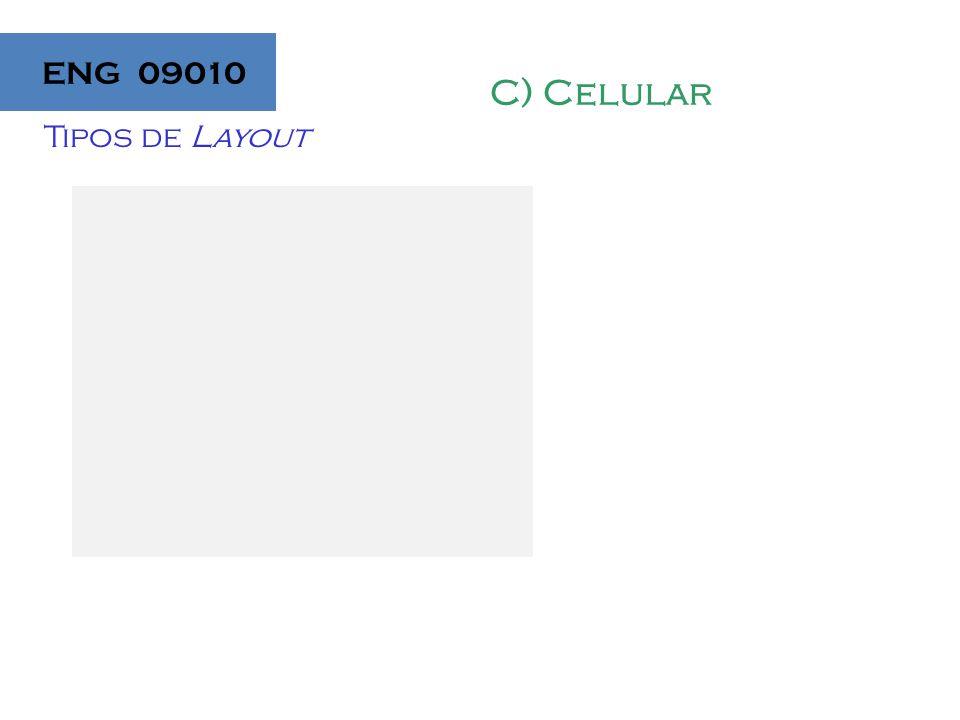 ENG 09010 C) Celular Tipos de Layout