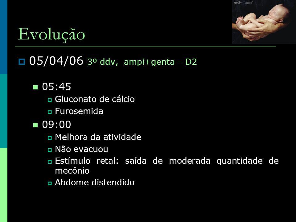 Evolução 05/04/06 3º ddv, ampi+genta – D2 05:45 09:00
