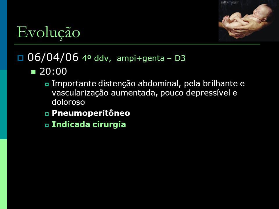 Evolução 06/04/06 4º ddv, ampi+genta – D3 20:00