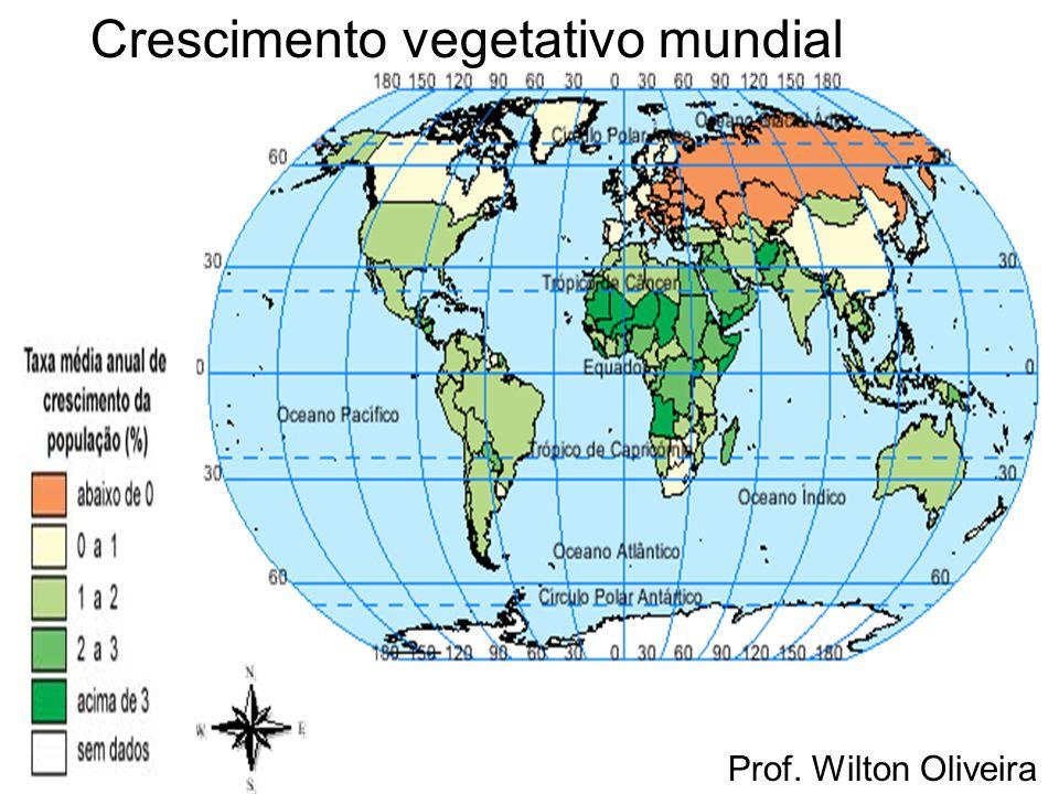 Crescimento vegetativo mundial