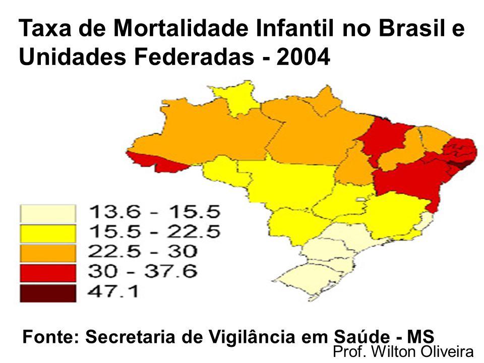 Taxa de Mortalidade Infantil no Brasil e Unidades Federadas - 2004