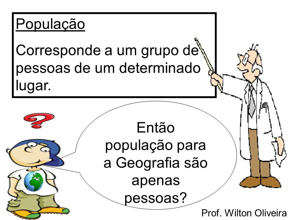 Então população para a Geografia são apenas pessoas