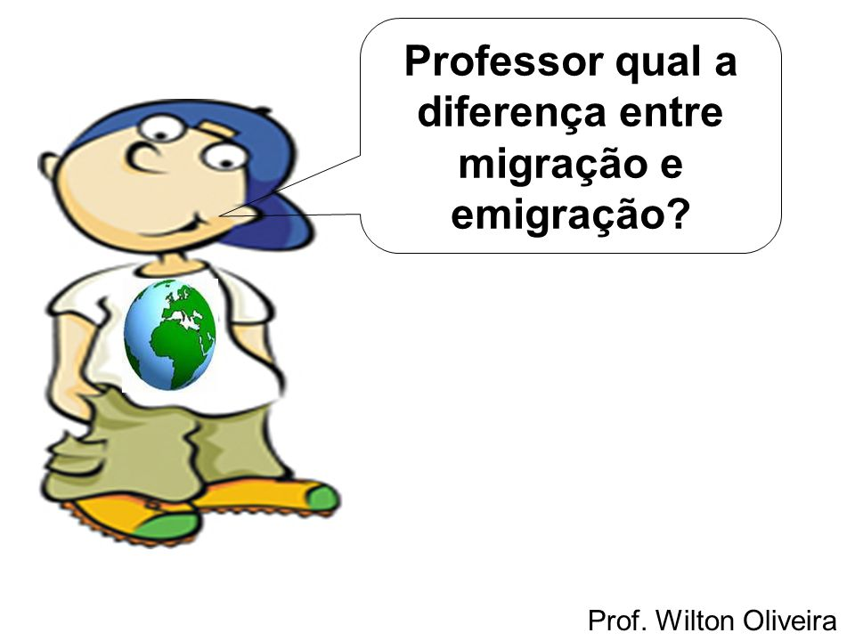 Professor qual a diferença entre migração e emigração
