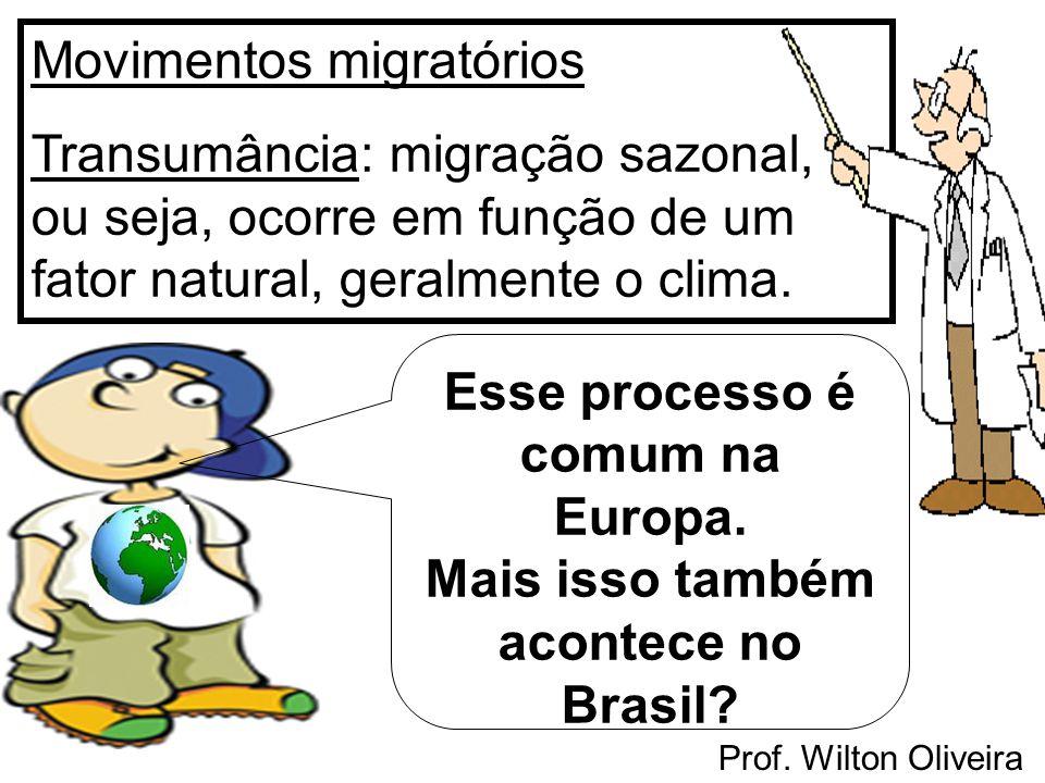 Esse processo é comum na Europa. Mais isso também acontece no Brasil