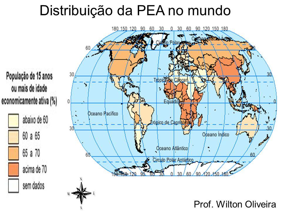 Distribuição da PEA no mundo