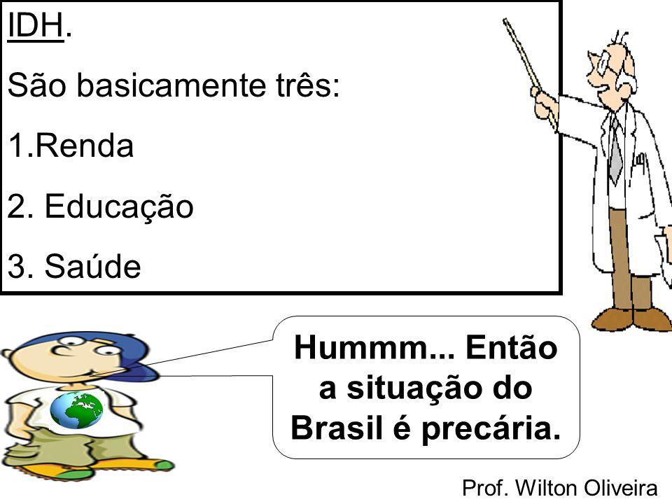 Hummm... Então a situação do Brasil é precária.