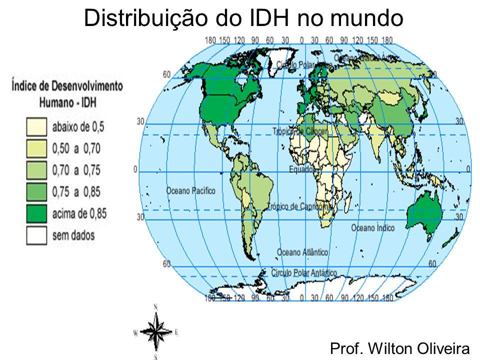 Distribuição do IDH no mundo