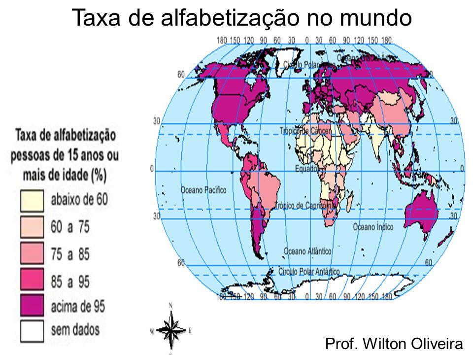 Taxa de alfabetização no mundo