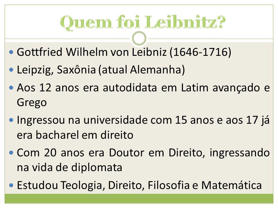 Quem foi Leibnitz Gottfried Wilhelm von Leibniz (1646-1716)