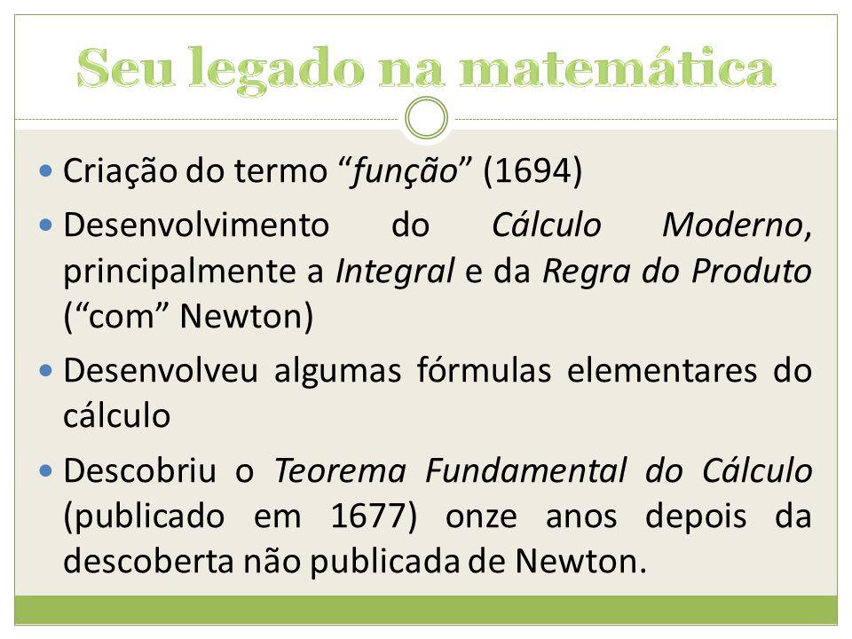 Seu legado na matemática