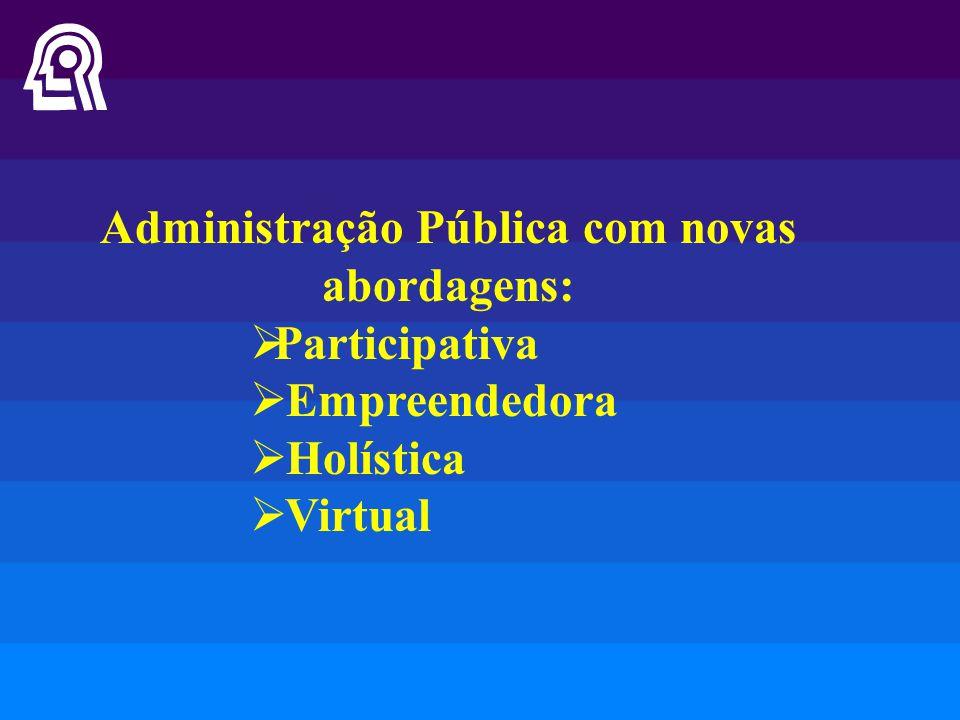 Administração Pública com novas abordagens: