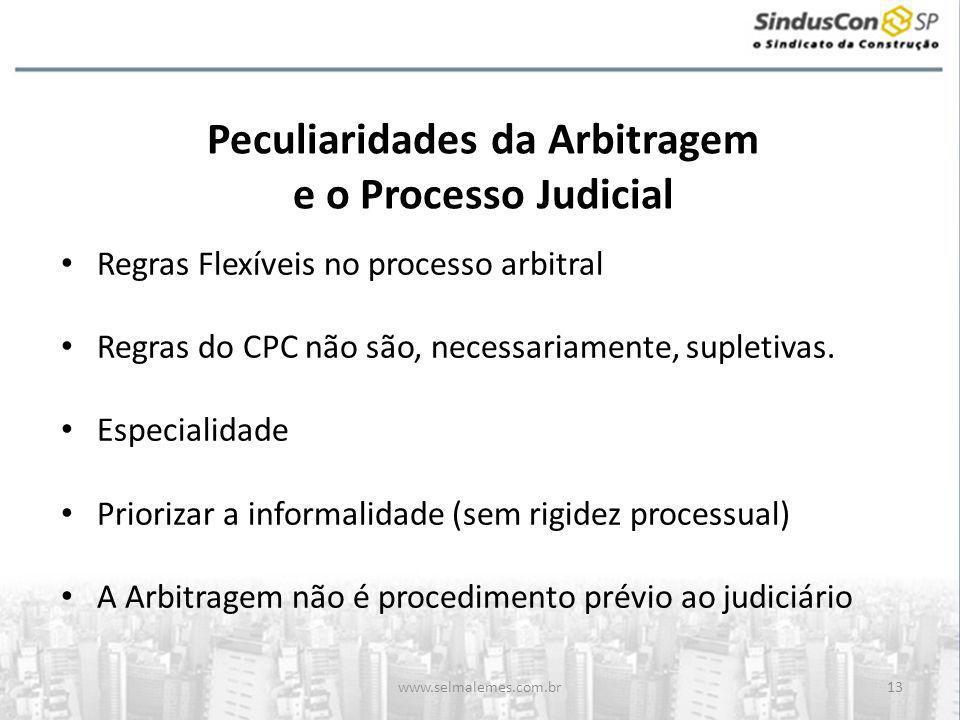 Peculiaridades da Arbitragem e o Processo Judicial