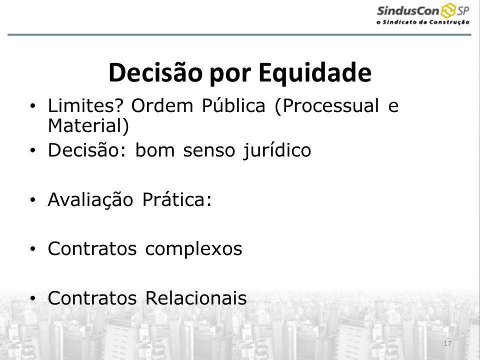 Decisão por Equidade Limites Ordem Pública (Processual e Material)