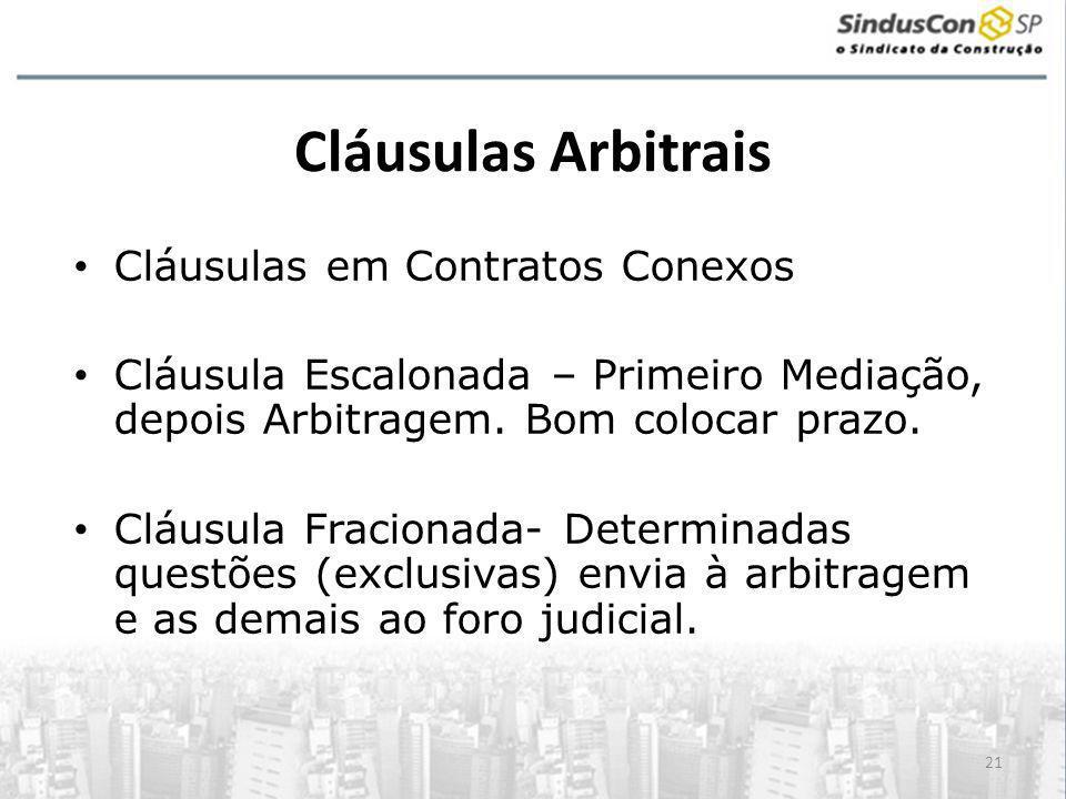 Cláusulas Arbitrais Cláusulas em Contratos Conexos