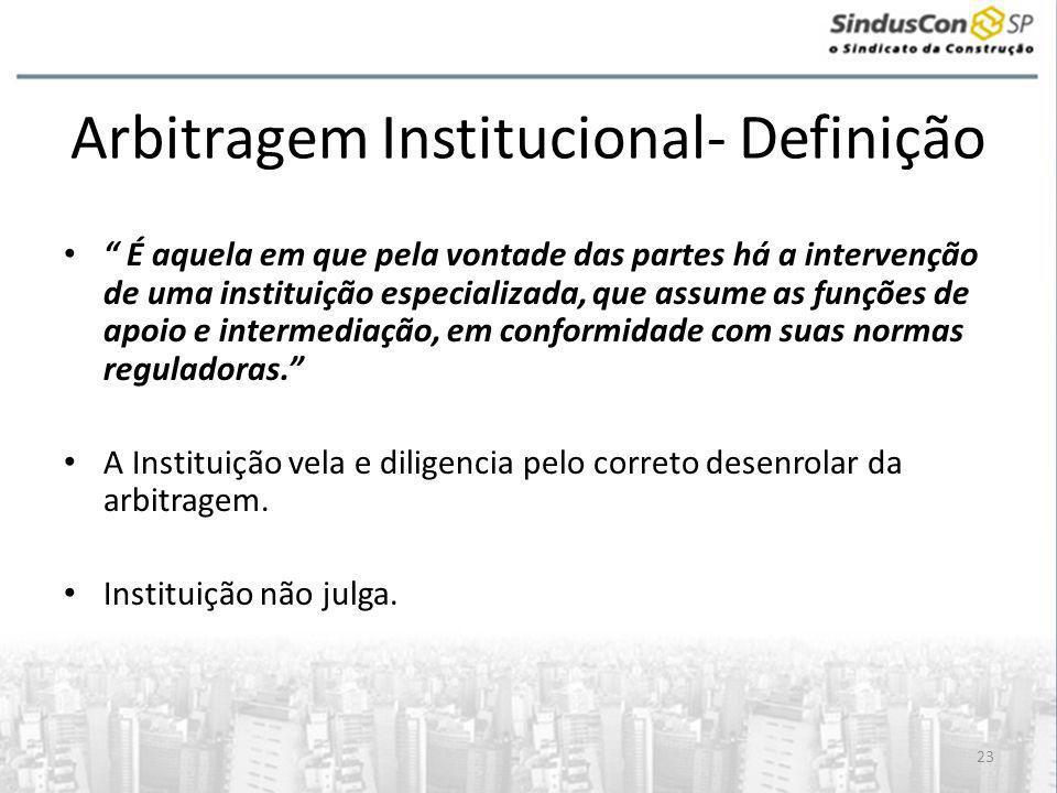 Arbitragem Institucional- Definição