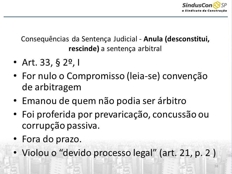 For nulo o Compromisso (leia-se) convenção de arbitragem