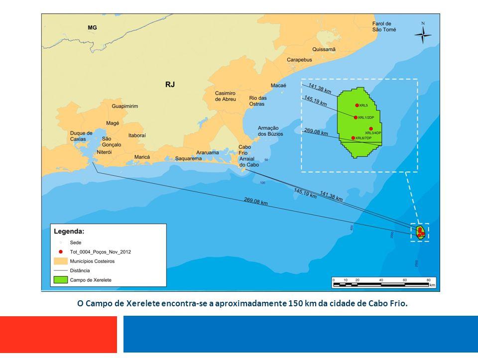 O Campo de Xerelete encontra-se a aproximadamente 150 km da cidade de Cabo Frio.