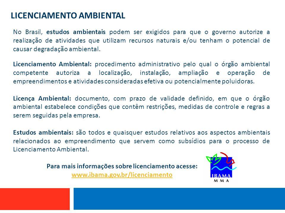 Para mais informações sobre licenciamento acesse: